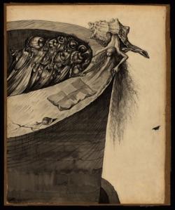 Desenho conceitual de Dalí